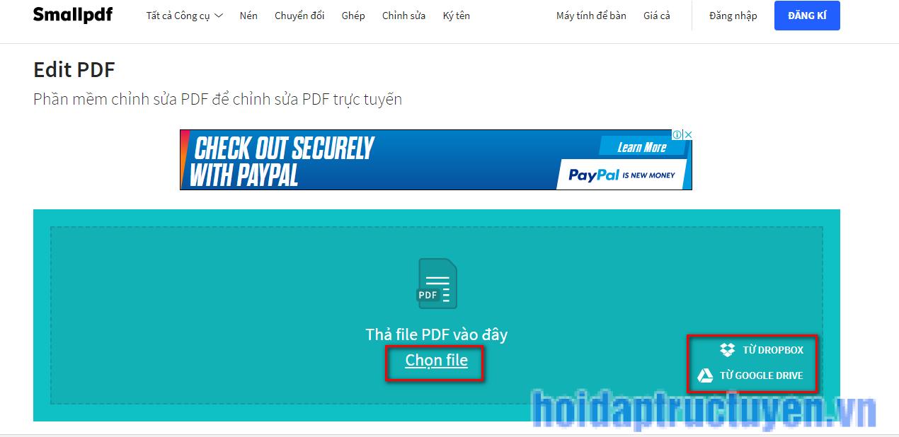cách chỉnh sửa file pdf không cần phần mềm