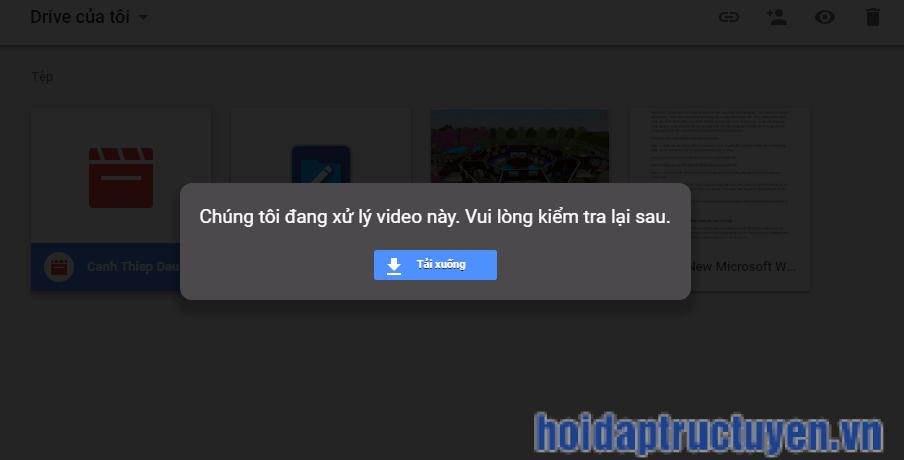 Lỗi xem video trên drive