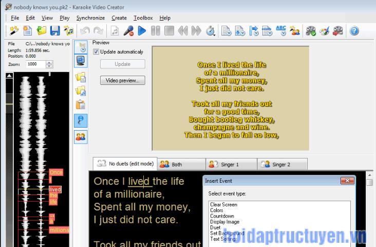 Phần mềm tách lời bài hát