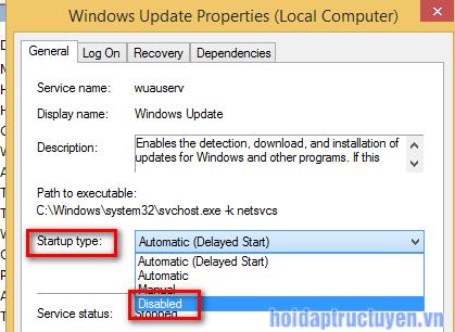 cách tắt cập nhật windows 10