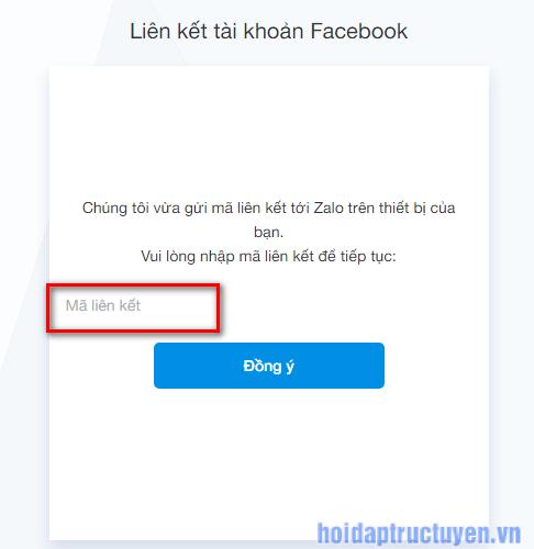 đăng nhập zalo web với tài khoản facebook