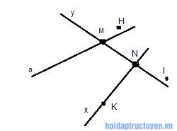 giải toán lớp 6 - hình học - bài 1