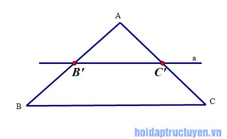 định lý talet đảo