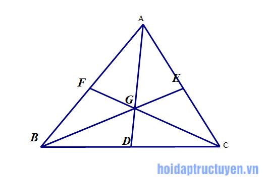 đường trung tuyến trong tam giác
