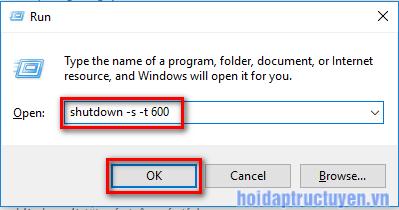 hẹn giờ tắt máy windows bằng dòng lệnh
