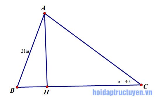 định lý góc và cạnh trong tam giác vuông