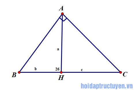 RE: Cho 1 tam giác vuông, biết tỉ số 2 cạnh góc vuông là 5:12, cạnh huyền