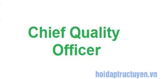 Giám đốc chất lượng là gì