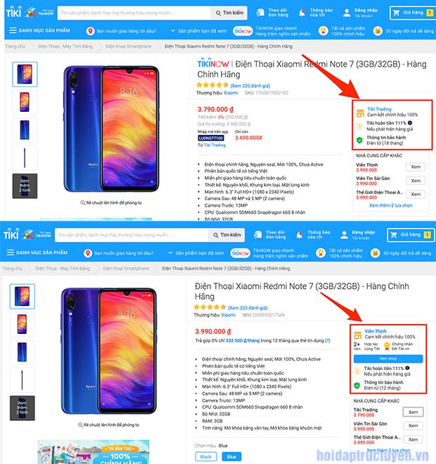 Có nên mua Xiaomi Redmi 7A trên Tiki không?